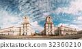 Minsk, Belarus. Two Buildings Towers Symbolizing 32360210