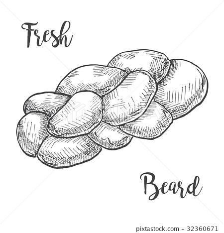 Fresh buns isolated on white background. 32360671