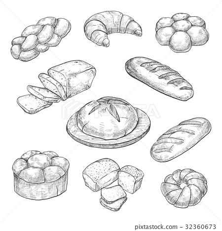 Buns, croissant, loaf, bread, baking 32360673