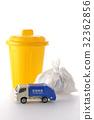 垃圾车 废物收集车 微型汽车 32362856
