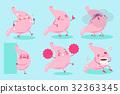 cute cartoon stomach 32363345