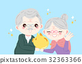 cute cartoon old couple 32363366
