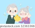 cute cartoon old couple 32363366
