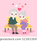 cute cartoon old couple 32363369