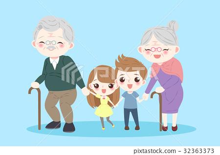 happy cartoon family 32363373