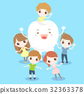 cartoon child with tooth 32363378