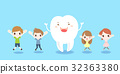 cartoon child with tooth 32363380