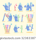 brush cup illustration 32363387