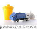 waste collection vehicle, heavy vehicles, miniature 32363534