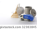 垃圾车 废物收集车 微型汽车 32363845