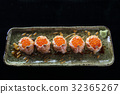 Salmon sushi ball with salmon caviar 32365267