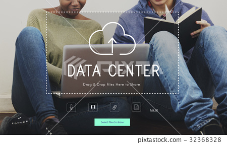 People Using Technology Digital Device with Cloud Computing Icon Graphic 32368328