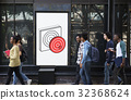 Target Dart Board Arrow Application Vector Graphic 32368624
