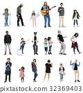 Diverse of People Enjoy Music Lifestyle Studio Isolated 32369403