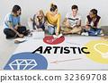 Creativity artistic ideas icon graphic 32369708