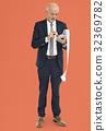 Businessman Calculating Financial Transaction Payment 32369782