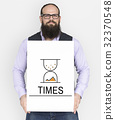 Hourglass Sandglass Timer Icon Word 32370548