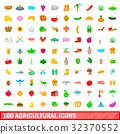 100 農業的 圖標 32370552