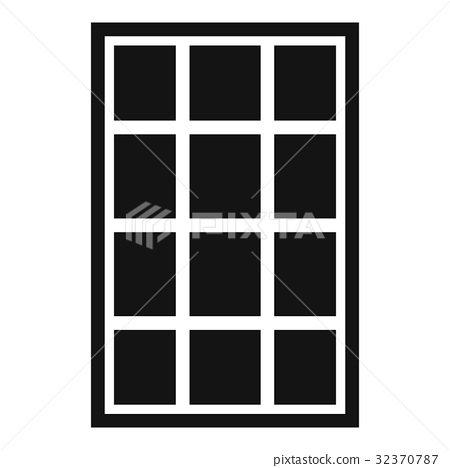 White arched window icon simple 32370787