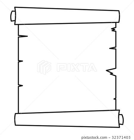 Retro scroll paper icon outline 32371403
