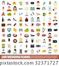 100 wedding icons 32371727