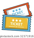 ticket, cartoon, icon 32371916