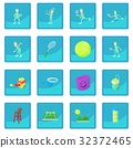 Tennis icon blue app 32372465