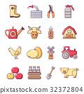 農場 農業的 ICON 32372804