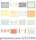 Different fencing icons set, cartoon style 32372993