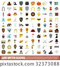 100, myth, icons 32373088