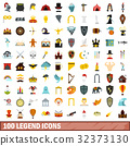 100, legend, icons 32373130