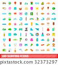 100 冲浪 图标 32373297