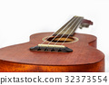 Brown ukulele, Hawaiian guitar, isolated on white. 32373554