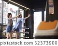 年輕的女孩,飛鏢,遊戲中心 32373900