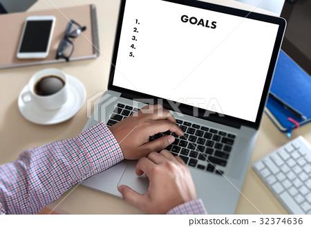 MY GOALS Handwriting of  motivational memo 32374636