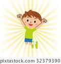 男孩跳 32379390