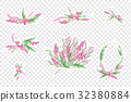 Vintage romantic vector of fashionable bouquets of 32380884