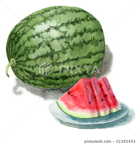 水果 西瓜 整個 32383453