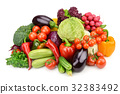 vegetables isolated on white background 32383492