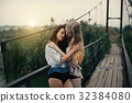 Lesbian Couple Together Outdoors Concept 32384080