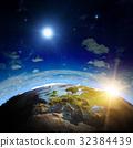 Europe sunrise 3d planet 32384439