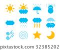 天氣例證象集合顏色 32385202