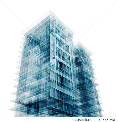 Contemporary architecture 3d - Stock Illustration [32385948] - PIXTA