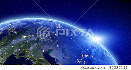 City lights - Eurasia, Russia 32386111