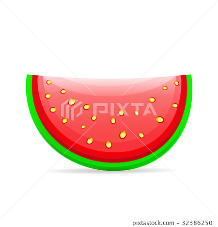 Flat icon slice of watermelon. 32386250