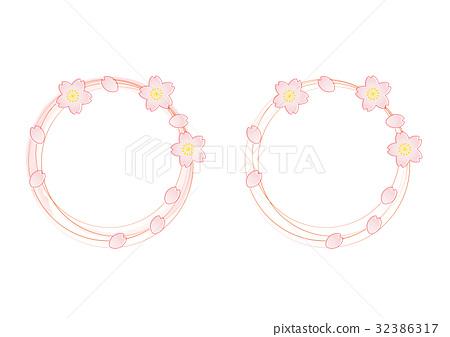 vector, vectors, cherry blossom 32386317