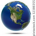 America global map - North America 32386355