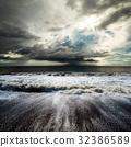 Sea storm image background 32386589