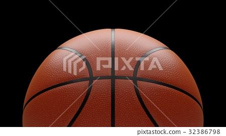 3D rendering basketball ball on black background 32386798