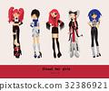 Lovely visual kei girls.  32386921